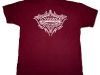 Burgundy Boccella's Performance Tee Shirt